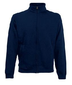 Sweatshirt Fermoar Fruit of the Loom Bleumarin M