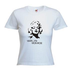 Tricou alb , dama imprimat Marilyn Monroe 2