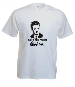 Tricou alb imprimat Ceausescu 2