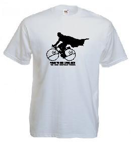 Tricou alb, imprimat Cyclist Vader 2