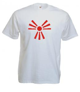 Tricou alb imprimat Japonia