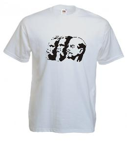 Tricou alb imprimat Lenin 5