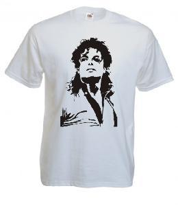 Tricou alb, imprimat Michael Jackson