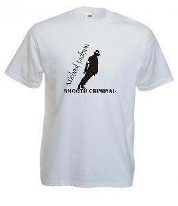 Tricou alb imprimat Michael Jackson Smooth Criminal