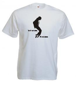 Tricou alb imprimat Michael Jackson Thriller