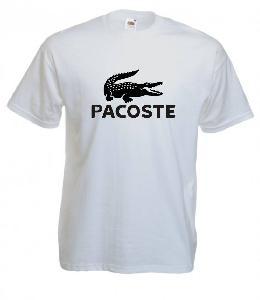 Tricou alb imprimat Pacoste