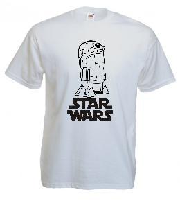 Tricou alb imprimat R2D2