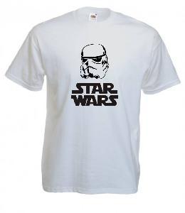 Tricou alb imprimat Star Wars Stormtrooper