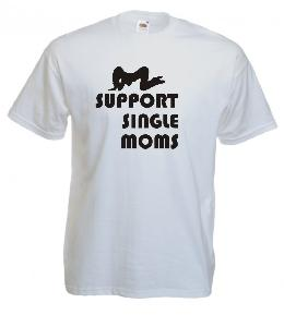 Tricou alb ,imprimat Support Moms