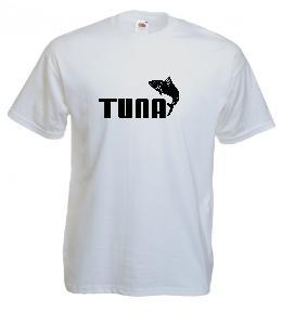 Tricou alb imprimat Tuna