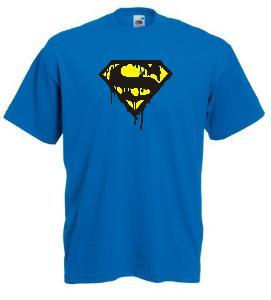 Tricou albastru imprimat Superman Dark