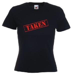 Tricou dama, negru imprimat TAKEN
