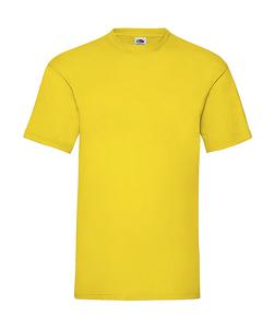 Tricou Fruit of the Loom, Valueweight galben
