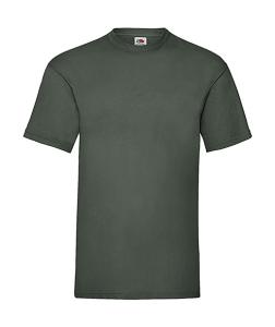 Tricou Fruit of the Loom, Valueweight verde inchis