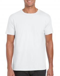Tricou Gildan Softstyle alb