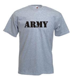 Tricou gri imprimat Army New