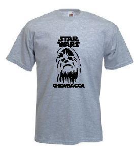Tricou gri imprimat Chewbacca
