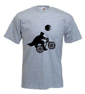 Tricou gri, imprimat Cyclist Vader