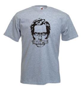 Tricou gri imprimat Dr House 2