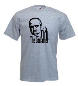 Tricou gri imprimat The Godfather 3