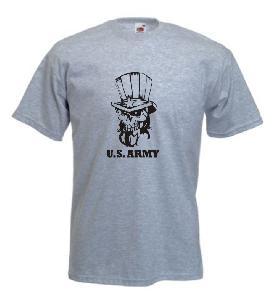 Tricou gri imprimat Uncle Sam 2