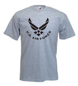 Tricou gri imprimat US Air Force