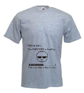 Tricou gri, pentru gravide imprimat Smecher