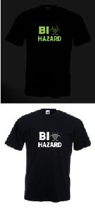 Tricou imprimat fosforescent Biohazard