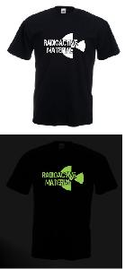 Tricou imprimat fosforescent Radioactive 3