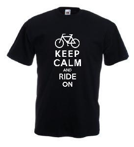 Tricou imprimat Keep Ride
