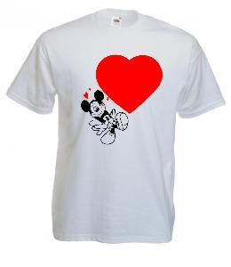 Tricou imprimat Mickey Valentine's Day
