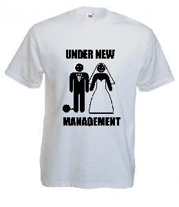 Tricou imprimat Under New Management