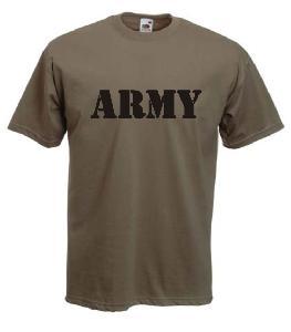 Tricou kaki imprimat Army 3