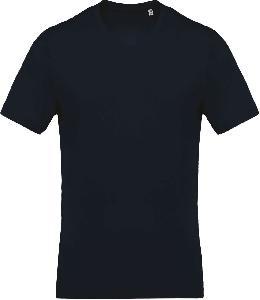 Tricou Kariban, Guler in V, Bleumarin