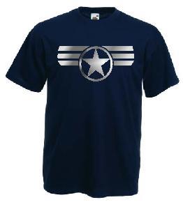 Tricou navy imprimat Captain America 2 DTG