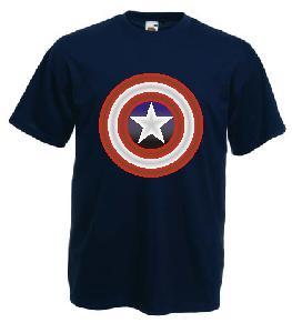 Tricou navy imprimat Captain America DTG
