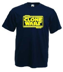 Tricou navy imprimat Clone Wars logo