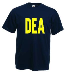 Tricou navy imprimat DEA