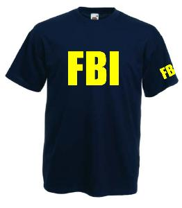 Tricou navy imprimat F.B.I. Agent