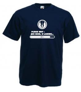 Tricou navy, imprimat Jedi Mode