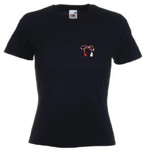 Tricou negru dama imprimat Martisor