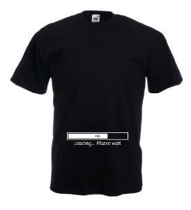 Tricou negru gravide imprimat Loading 2