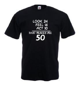 Tricou negru imprimat 50