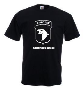 Tricou negru imprimat  Airborne Division