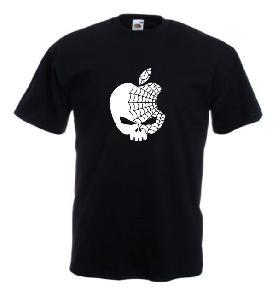 Tricou negru imprimat Apple Web