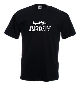 Tricou negru imprimat Army 2
