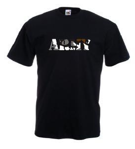 Tricou negru imprimat Army Camuflaj
