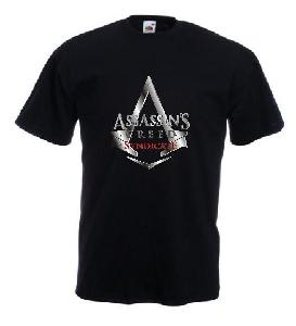 Tricou negru imprimat Assassin's Creed Syndicate DTG