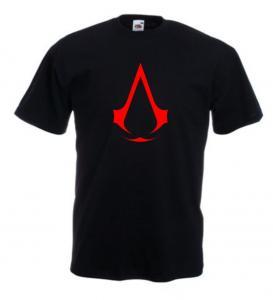 Tricou negru imprimat Assassins Creed