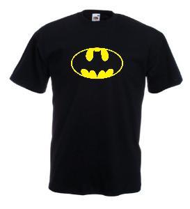 Tricou negru imprimat Batman